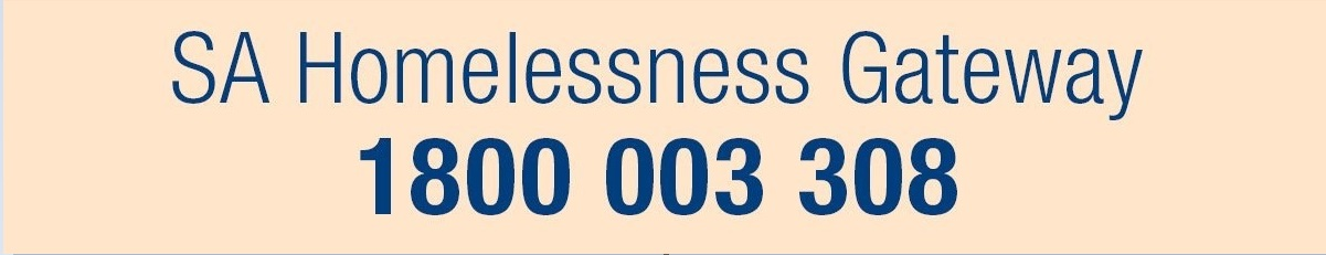Code red activated SA Homelessness Gateway Phone 1800-003-308