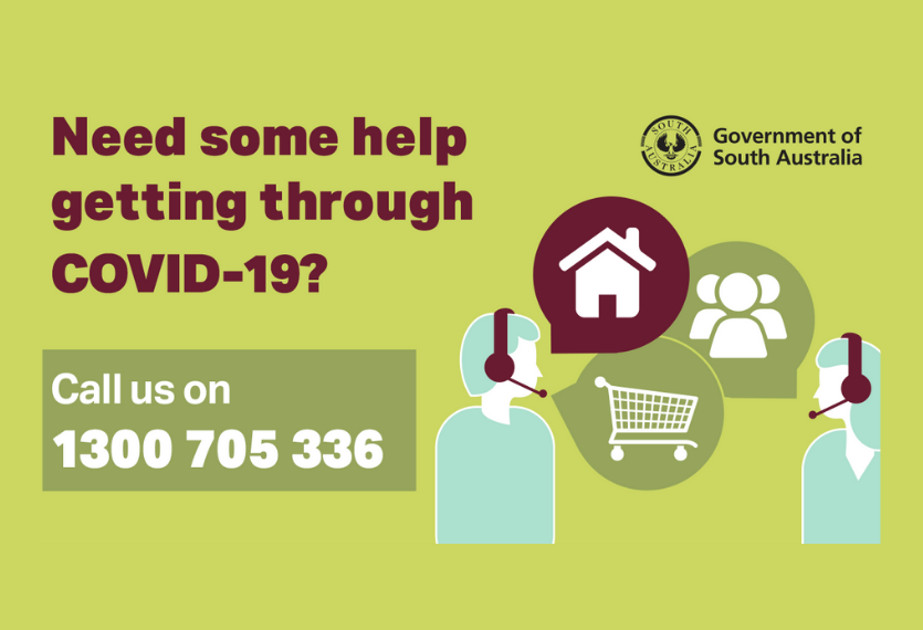 COVID-19 Relief Call Centre is now available on 1300 705 336 from 8:30am to 5:30pm